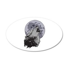 Howling Coyote Moon Wall Decal
