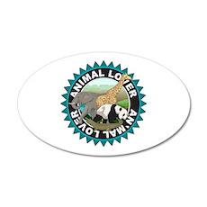 Animal Lover Logo 20x12 Oval Wall Decal