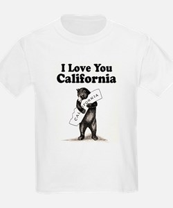 Vintage I Love You California State Bear T-Shirt