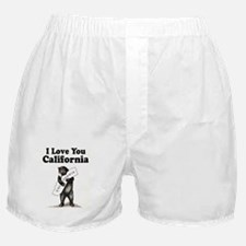 Vintage I Love You California State Bear Boxer Sho