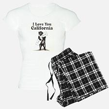 Vintage I Love You California State Bear Pajamas