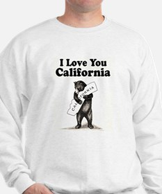Vintage I Love You California State Bear Sweatshir