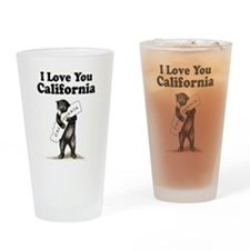 Vintage I Love You California State Bear Drinking