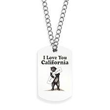 Vintage I Love You California State Bear Dog Tags