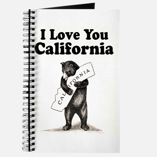 Vintage I Love You California State Bear Journal