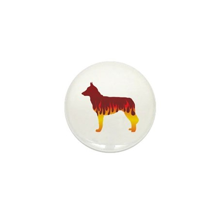 Malinois Flames Mini Button (100 pack)