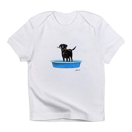 Black Labrador Retriever in kiddie pool Infant T-S