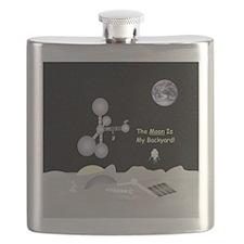 Moon is My Backyard drawing Flask