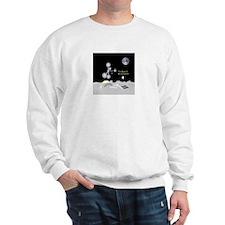 Moon is My Backyard drawing Sweatshirt