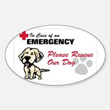yellow lab rescue Decal