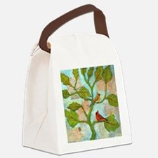 Cardinal Love Notes Canvas Lunch Bag