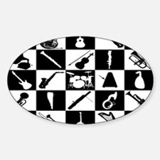 Checkered Musical Instruments Decal