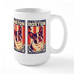 BOSTON Terrier USA Propaganda Large Mug