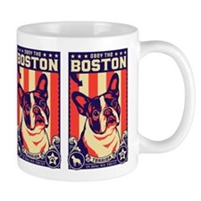 BOSTON Terrier USA Propaganda Small Mugs