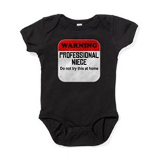 Warning Professional Niece Baby Bodysuit