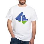 Wind Energy Logo White T-Shirt