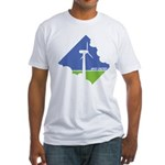 Wind Energy Logo Fitted T-Shirt