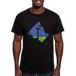 Wind Energy Logo Men's Fitted T-Shirt (dark)