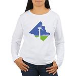 Wind Energy Logo Women's Long Sleeve T-Shirt