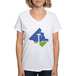 Wind Energy Logo Women's V-Neck T-Shirt