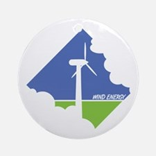Wind Energy Logo Ornament (Round)