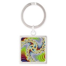 special fractal colorful 08 Keychains