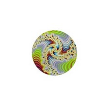 special fractal colorful 08 Mini Button