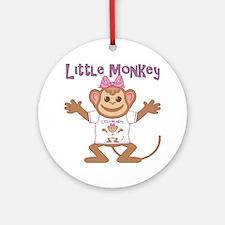 Little Monkey Girl Ornament (Round)