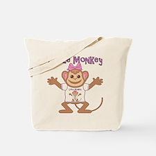 Little Monkey Girl Tote Bag