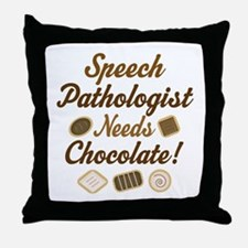 Speech Pathologist chocolate Throw Pillow