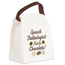 Speech Pathologist chocolate Canvas Lunch Bag