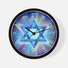 Radiant Magen David Wall Clock