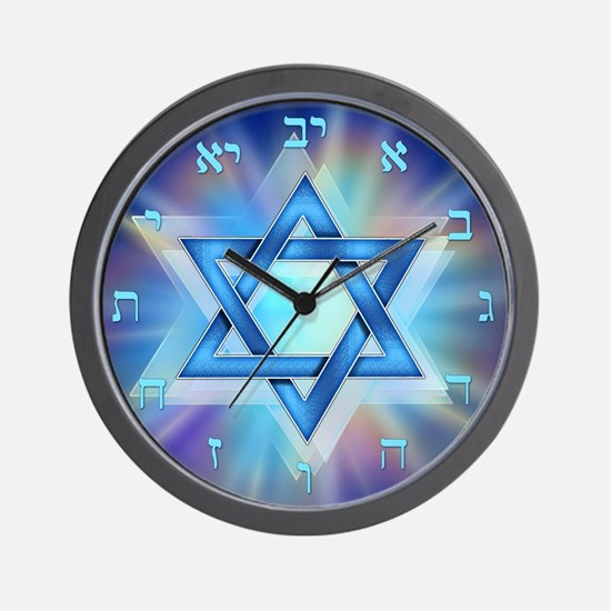 Radiant Magen David Wall Clock