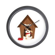 5. Dog Adoption House Wall Clock