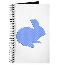 Blue Polka Dot Silhouette Easter Bunny Journal