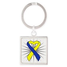 Down Syndrome Square Keychain