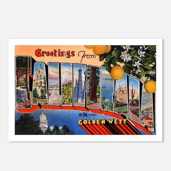 California Greetings Postcards (Package of 8)