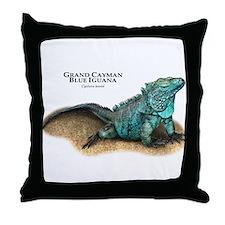 Grand Cayman Blue Iguana Throw Pillow