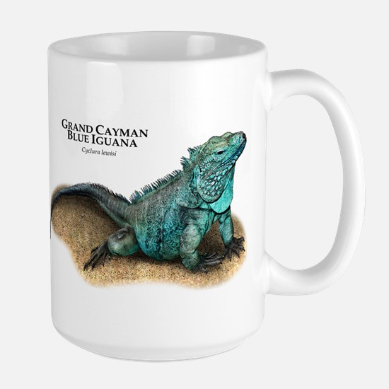 Grand Cayman Blue Iguana Large Mug