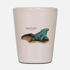 Grand Cayman Blue Iguana Shot Glass
