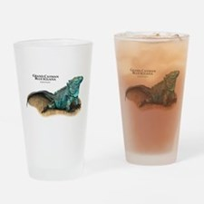 Grand Cayman Blue Iguana Drinking Glass