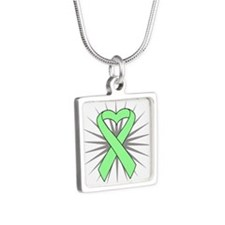 Celiac Disease Silver Square Necklace