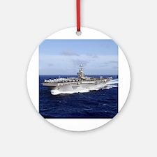 USS Abraham Lincoln CVN-72 Ornament (Round)