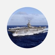 "USS Abraham Lincoln CVN-72 3.5"" Button (100 pack)"