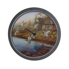 BACKWOODS MALLARDS Wall Clock