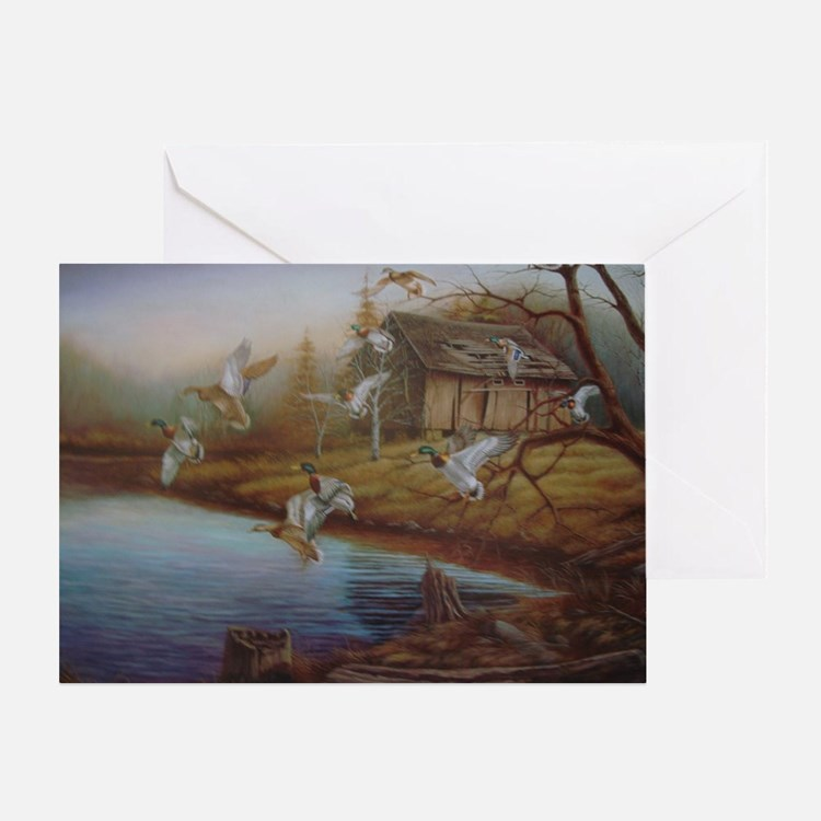 BACKWOODS MALLARDS Greeting Card