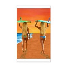 SURFER GIRLS Wall Decal