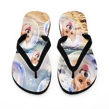 Beach Corgis Flip Flops