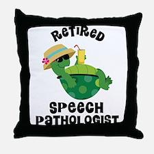 Retired Speech Pathologist Throw Pillow
