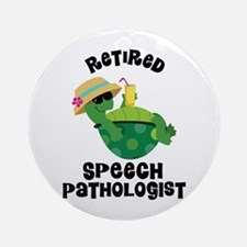 Retired Speech Pathologist Ornament (Round)